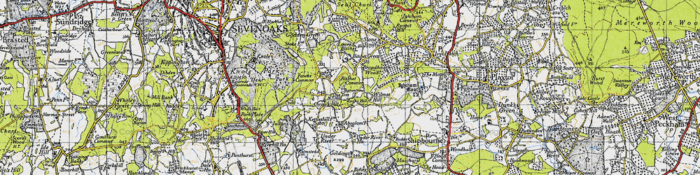 Old map of Wilmot Hill in 1946