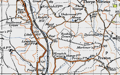 Old map of Likely Hill in 1946