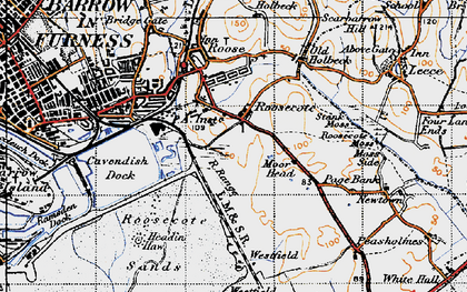 Old map of Westfield Point in 1947