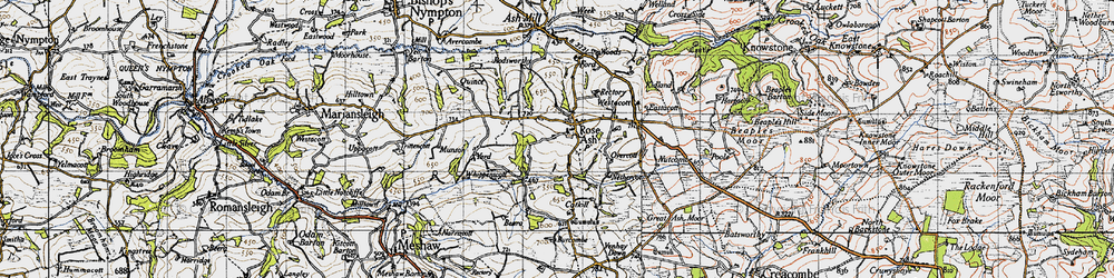 Old map of Whippenscott in 1946