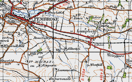 Old map of Alleston in 1946
