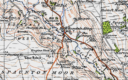 Old map of Rosedale Abbey in 1947