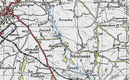 Old map of Roseland in 1946