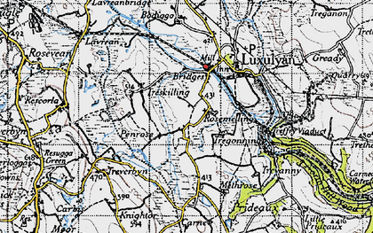 Old map of Rosemelling in 1946