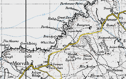 Old map of Rosemergy in 1946