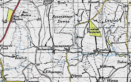 Old map of Rosenannon in 1946