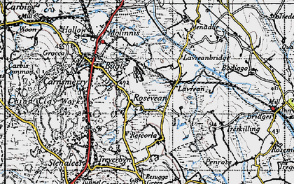 Old map of Rosevean in 1946