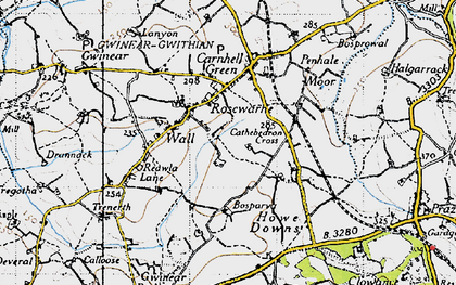 Old map of Rosewarne in 1946