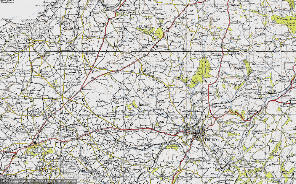 Old Map of Roseworthy, 1946 in 1946