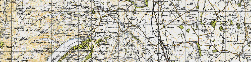 Old map of Langhowe Pike in 1947