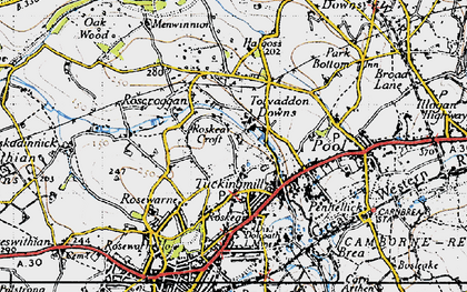 Old map of Roskear Croft in 1946