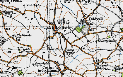 Old map of Rosliston in 1946