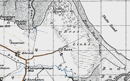 Old map of Wide Open in 1947