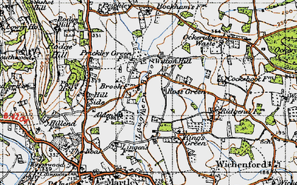 Old map of Laughern Brook in 1947