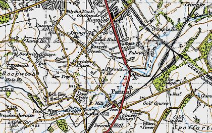 Old map of All Saints Court in 1947
