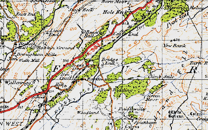 Old map of Woodland Grove in 1947