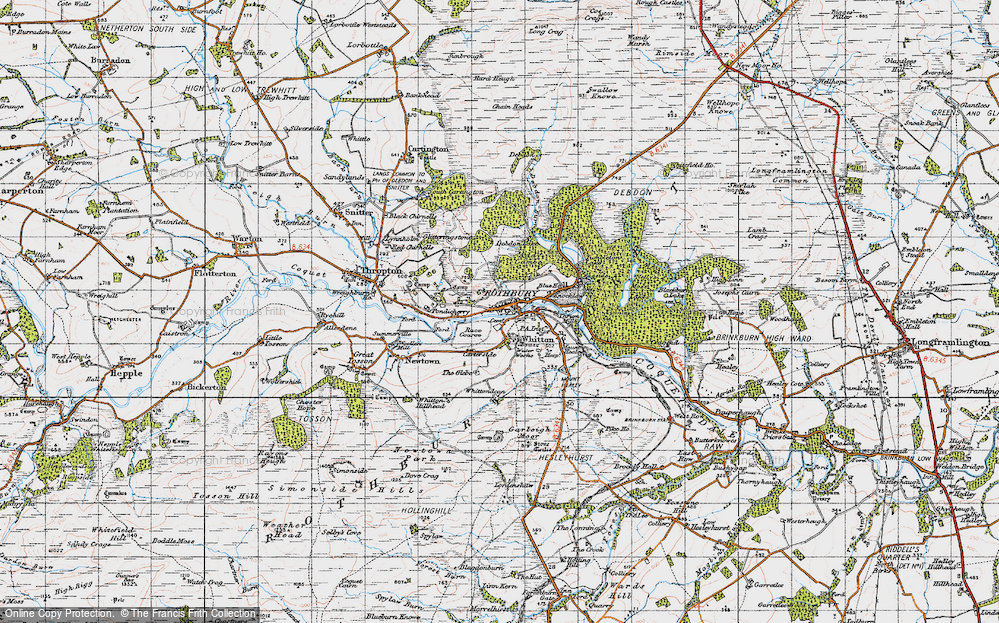 Old Map of Historic Map covering Addycombe in 1947