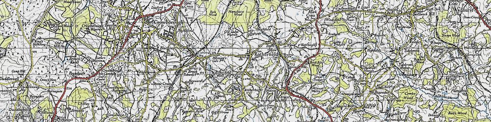 Old map of Rotherfield in 1940