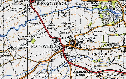 Old map of Rothwell in 1946