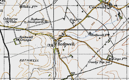 Old map of Badger Hills in 1946