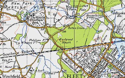 Old map of Lichett Plain in 1940