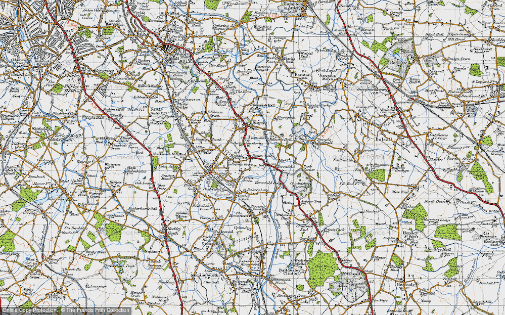 Old Map of Historic Map covering Lansdowne in 1947