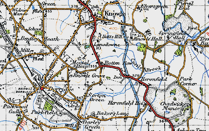 Old map of Lansdowne in 1947