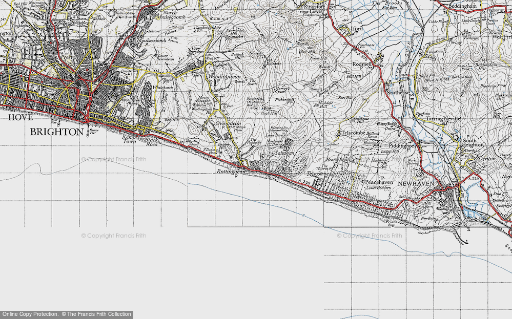 Old Map of Rottingdean, 1940 in 1940