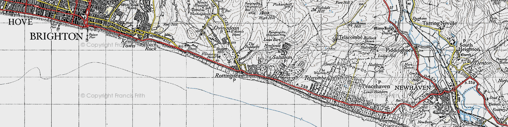 Old map of Rottingdean in 1940