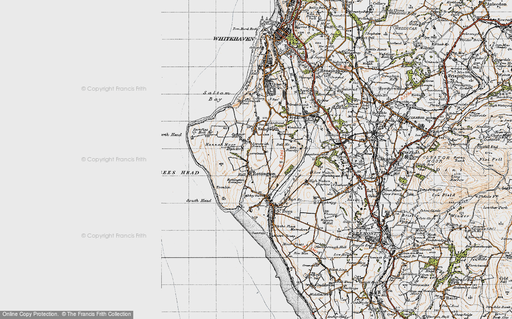 Old Map of Historic Map covering Tomlin in 1947