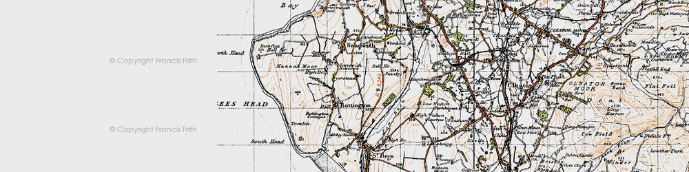 Old map of Tomlin in 1947