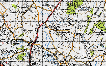 Old map of Tickhill in 1946