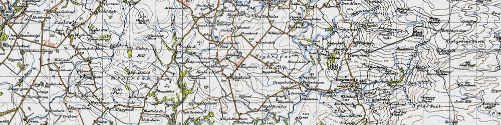 Old map of Whintingstown in 1947