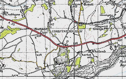 Old map of Westhayes in 1945