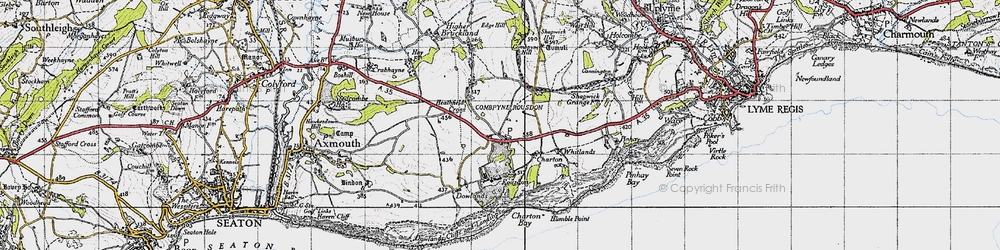 Old map of Whitlands in 1945