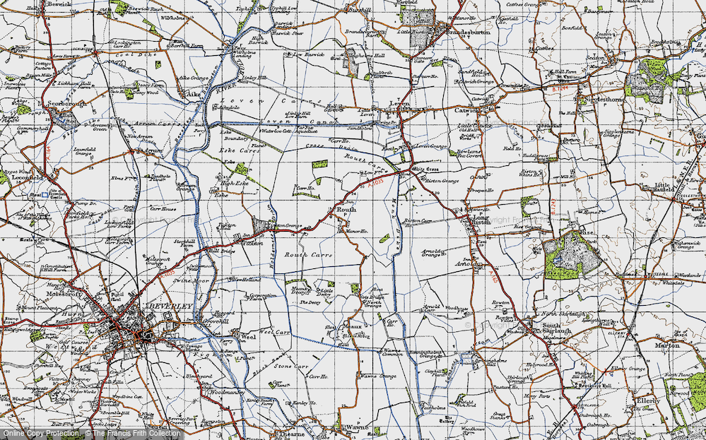 Old Map of Routh, 1947 in 1947