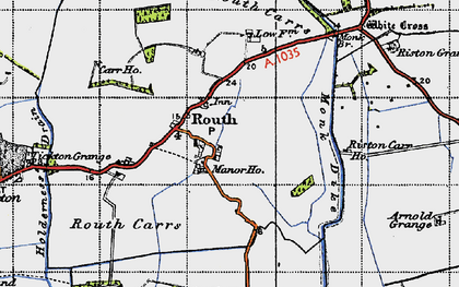 Old map of Leven Canal in 1947