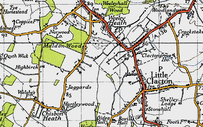 Old map of Ampers Wick in 1946