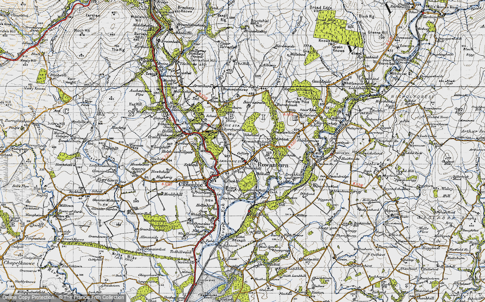 Old Map of Historic Map covering Airnlee in 1947