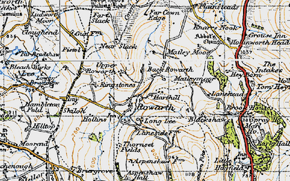 Old map of Rowarth in 1947