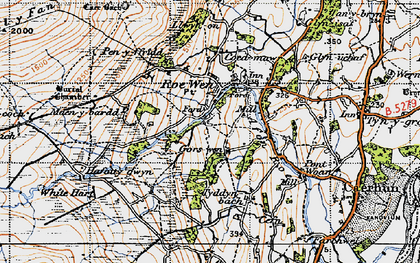 Old map of White Hart in 1947