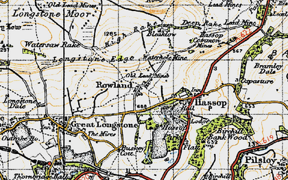 Old map of Rowland in 1947