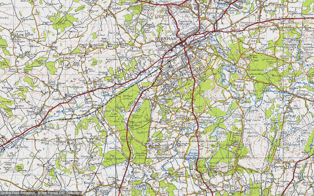 Old Map of Rowledge, 1940 in 1940