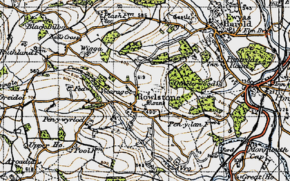 Old map of Ball's Cross in 1947