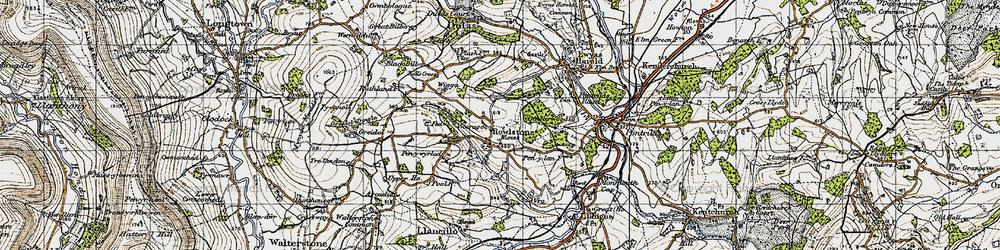 Old map of Wigga in 1947
