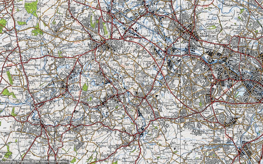 Old Map of Rowley Regis, 1946 in 1946