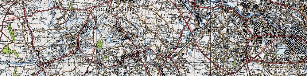 Old map of Rowley Regis in 1946