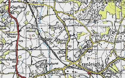 Old map of Rowly in 1940