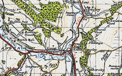 Old map of Lees Moor Wood in 1947