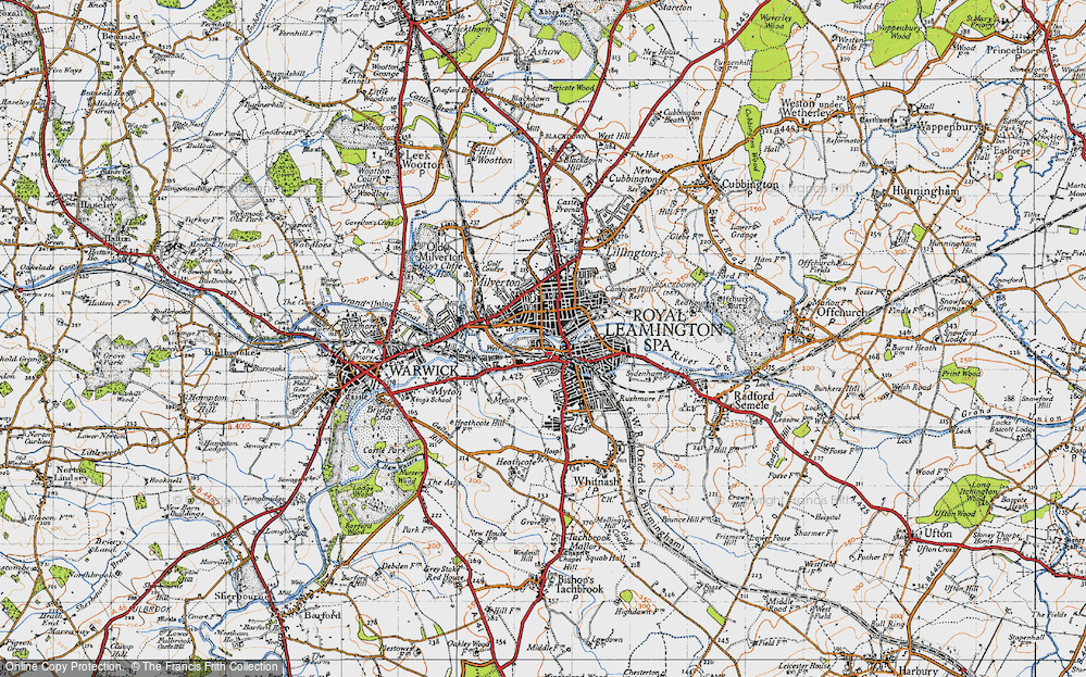 Old Map of Royal Leamington Spa, 1946 in 1946